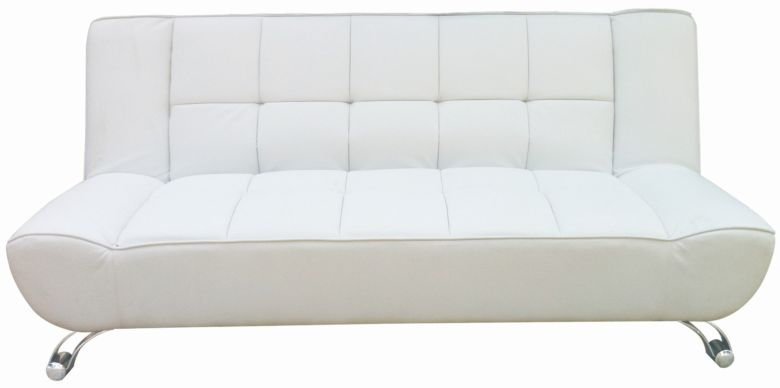 Vogue Faux Leather White Sofa Bed