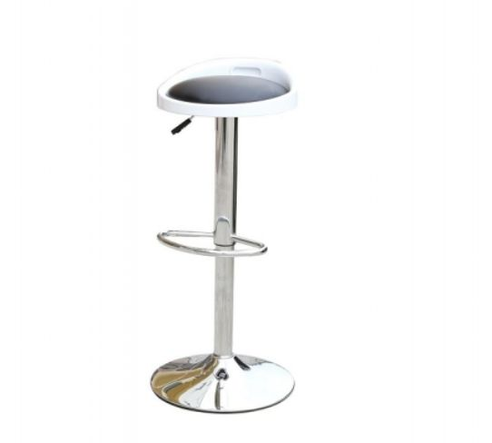 Barcelona Bar Stool White & Black