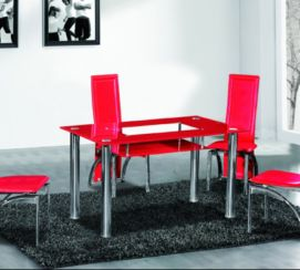 Christie Dining Table Red