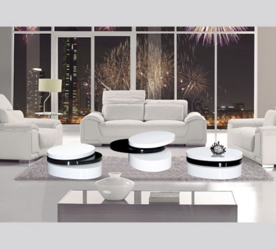 Mayfair Black & White Coffee Table