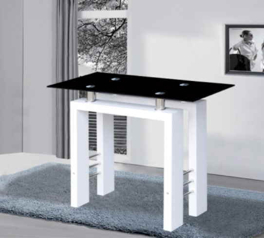 Metro High Gloss White Console Table