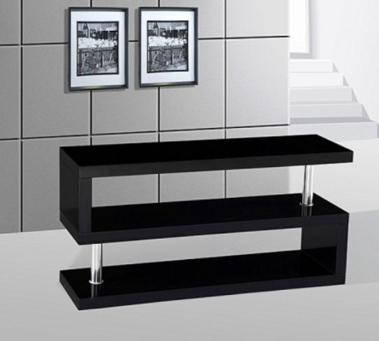 Miami High Gloss Modern Black TV Stand