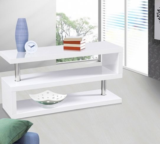 Miami High Gloss Modern White TV Stand