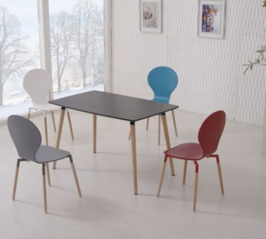 Naples 120cm Black Dining Table