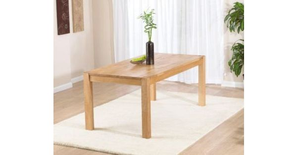 Nicci Solid Oak Table In A Fingerjoint Style With An Oiled Finish Designer Sofas4u