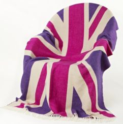 Union Jack Wool Pink Lambswool