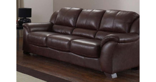Brown Leather Sofas from £247 - Designer Sofas 4U