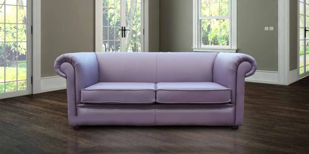 Phenomenal Chesterfield 1930S 3 Seater Settee Amethyst Purple Leather Sofa Pdpeps Interior Chair Design Pdpepsorg