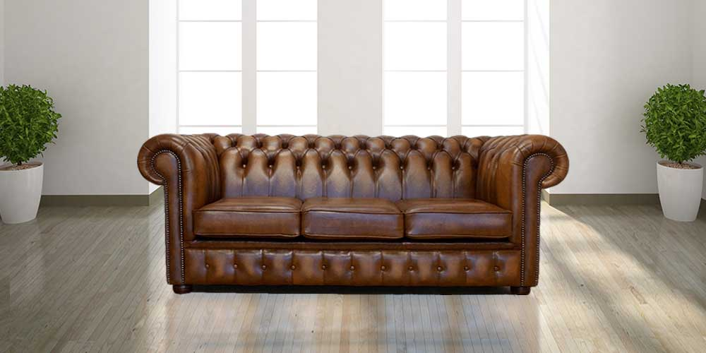 Sensational Chesterfield 3 Seater Birch Antique Gold Leather Sofa Offer Gmtry Best Dining Table And Chair Ideas Images Gmtryco