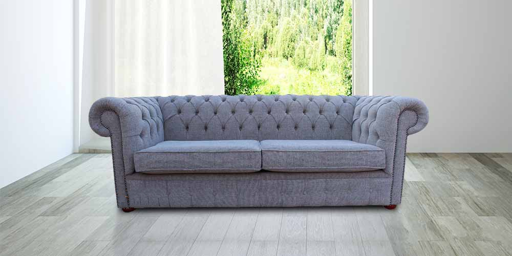 Tremendous Chesterfield 3 Seater Sofa Settee Harley Slate Grey Fabric Offer 2 Cushion Style Ncnpc Chair Design For Home Ncnpcorg