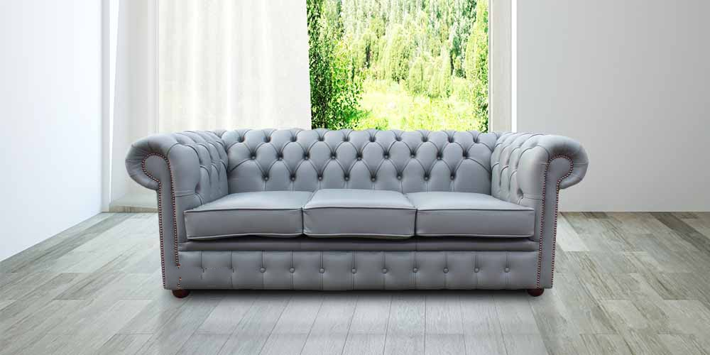 Iron Grey Chesterfield 3 Seater sofa Settee | DesignerSofas4U
