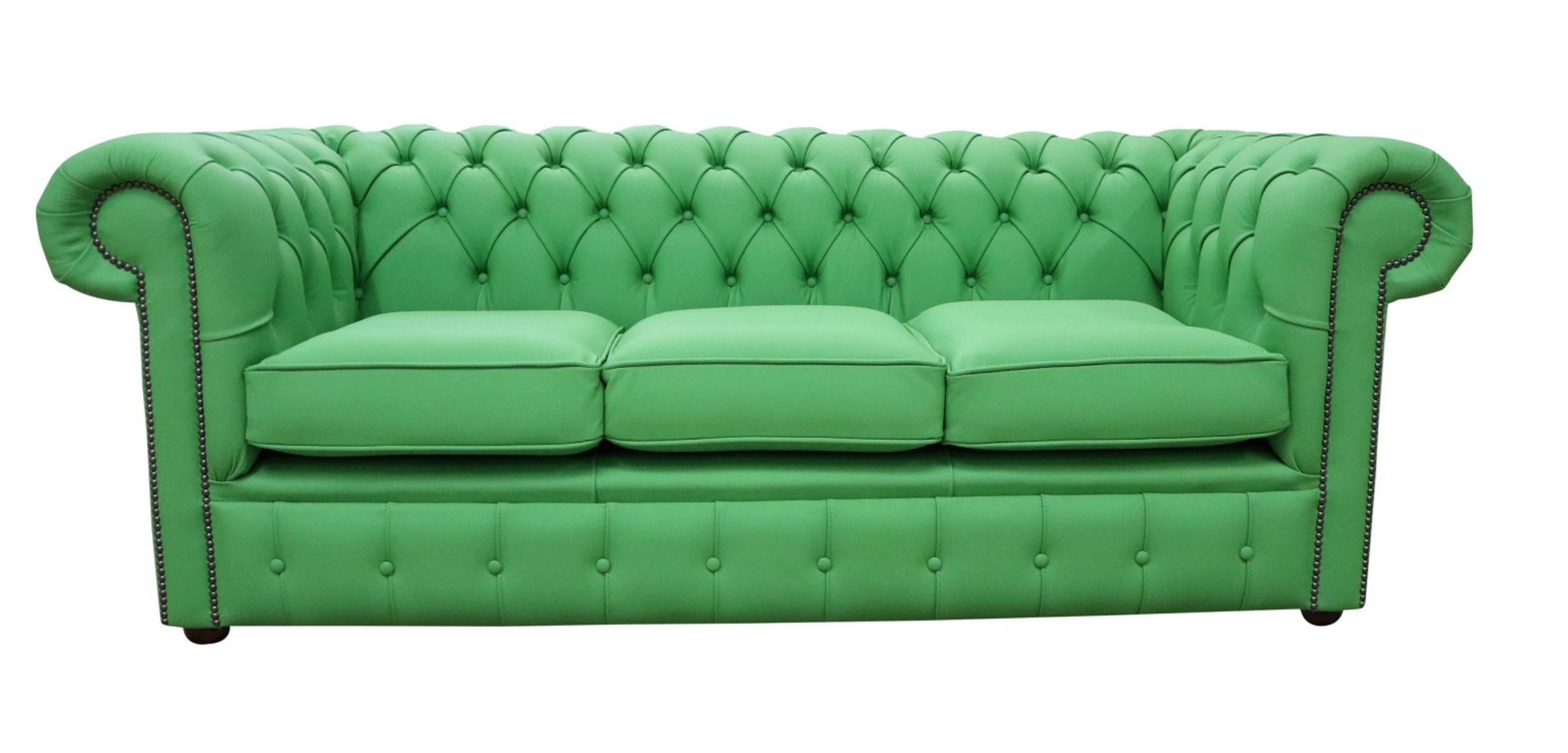 Apple Green Chesterfield 3 Seater Settee Sofa