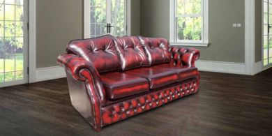 Chesterfield Era 3 Seater Settee Traditional Chesterfield Sofa Antique Oxblood leather