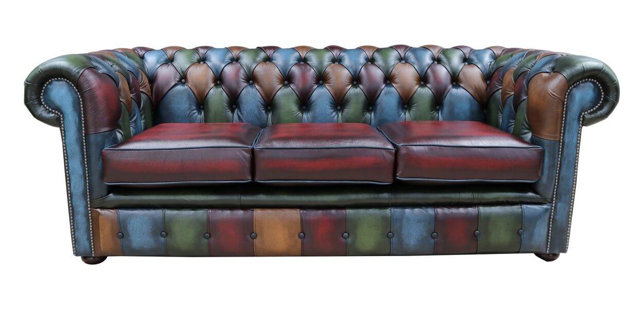 Marvelous Chesterfield Patchwork Leather Sofa Home Interior And Landscaping Sapresignezvosmurscom