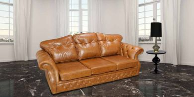 Era 3 Seater Settee Traditional Chesterfield Sofa Old English Tan