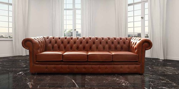 Fabulous Chesterfield 4 Seater Settee Sofa Old English Saddle Leather Uwap Interior Chair Design Uwaporg