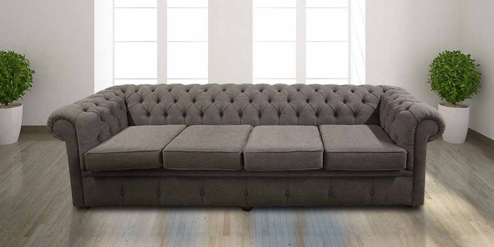 buy steel fabric chesterfield sofa uk designersofas4u