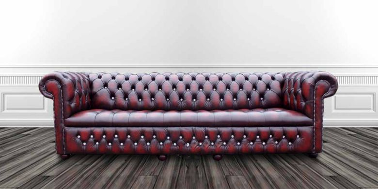 Chesterfield 4 Seater Crystal Diamond Leather Sofa Offer