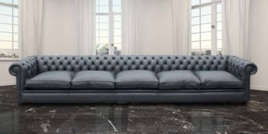 Chesterfield Bespoke 15 foot Settee Leather Sofa Offer