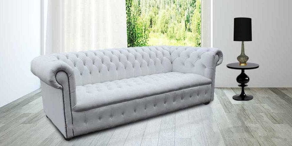 Buy White Leather Chesterfield Sofa Uk Designersofas4u