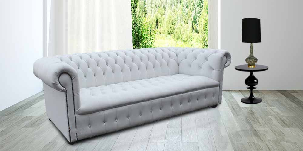 Fantastic Living Room Chesterfield Furniture White Leather Chesterfield Sofa Uk Designersofas4U Pabps2019 Chair Design Images Pabps2019Com