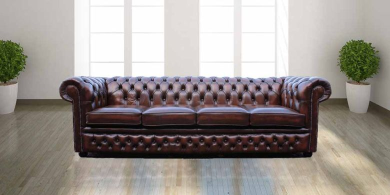 00b473266e5 Chesterfield Winchester 4 Seater Settee Antique Brown Leather Sofa Offer