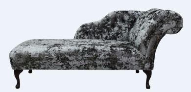 Chesterfield Velvet Chaise Lounge Day Bed Lustro Flint Velvet