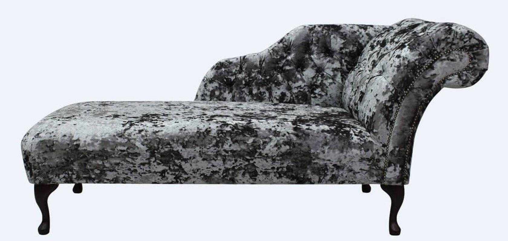 Chesterfield Velvet Chaise Lounge Day Bed Lustro Flint Velvet