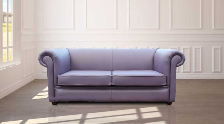 Pleasant Chesterfield 1930S 2 5 Seater Settee Amethyst Purple Leather Sofa Home Interior And Landscaping Mentranervesignezvosmurscom