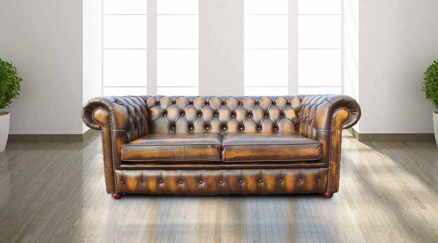 buy gold leather chesterfield sofa at designersofas4u. Black Bedroom Furniture Sets. Home Design Ideas