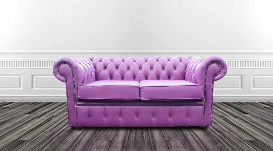 Awesome Chesterfield 2 Seater Settee Wineberry Purple Leather Sofa Offer Squirreltailoven Fun Painted Chair Ideas Images Squirreltailovenorg