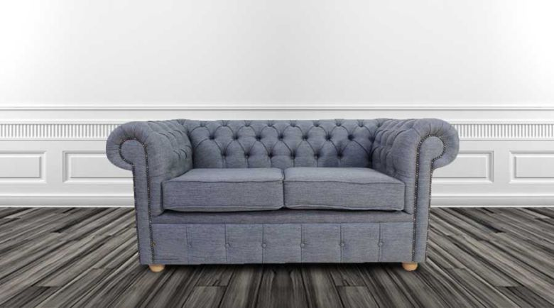 Grey Fabric Chesterfield | Sofas on Finance | DesignerSofas4U