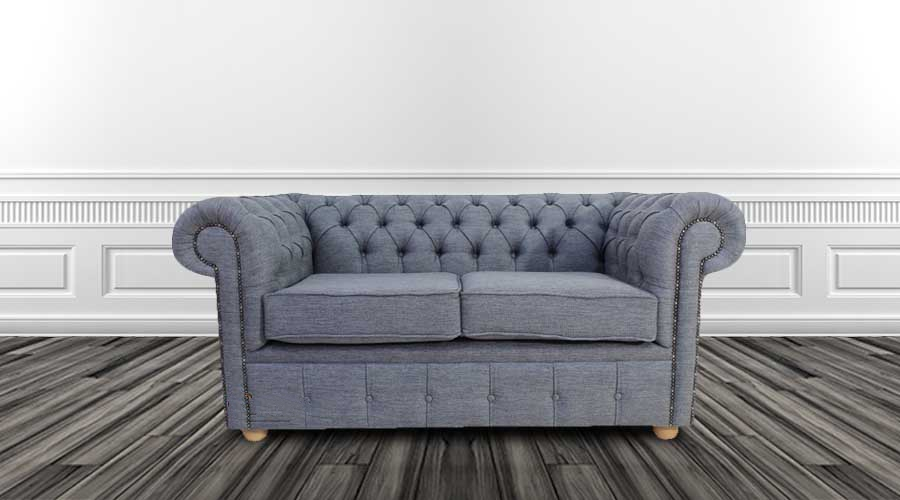 Grey Fabric Chesterfield Sofas On Finance Designersofas4u