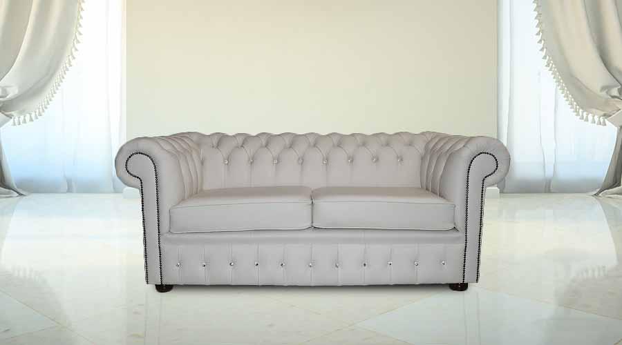 Fantastic Designersofas4U Buy 2 Seater Crystal White Leather Chesterfield Sofa Uk Short Links Chair Design For Home Short Linksinfo
