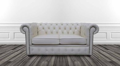 DesignerSofas4U | Buy white leather Chesterfield sofa UK
