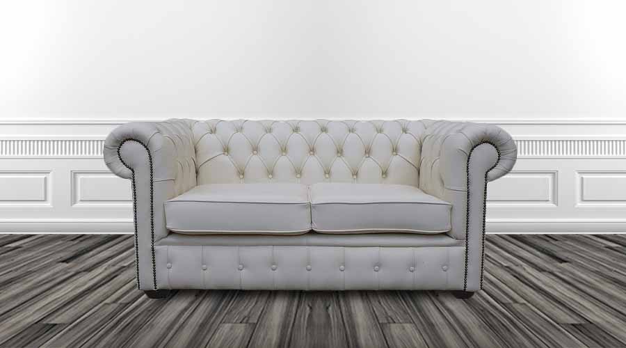 Buy White Leather Chesterfield Sofa Uk Designersofas4u