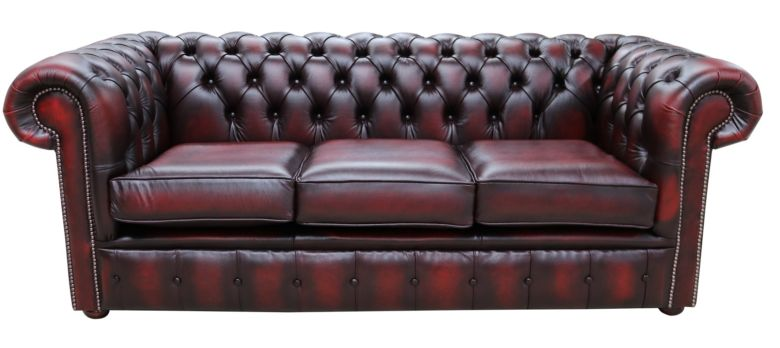 Fantastic Chesterfield Classic Tufted Buttoned 3 Seater Antique Oxblood Leather Sofa Settee Home Interior And Landscaping Oversignezvosmurscom
