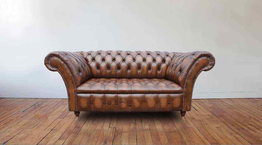 1da111a9e639 Chesterfield Balmoral 2 Seater Sofa Settee Antique Tan Leather ...