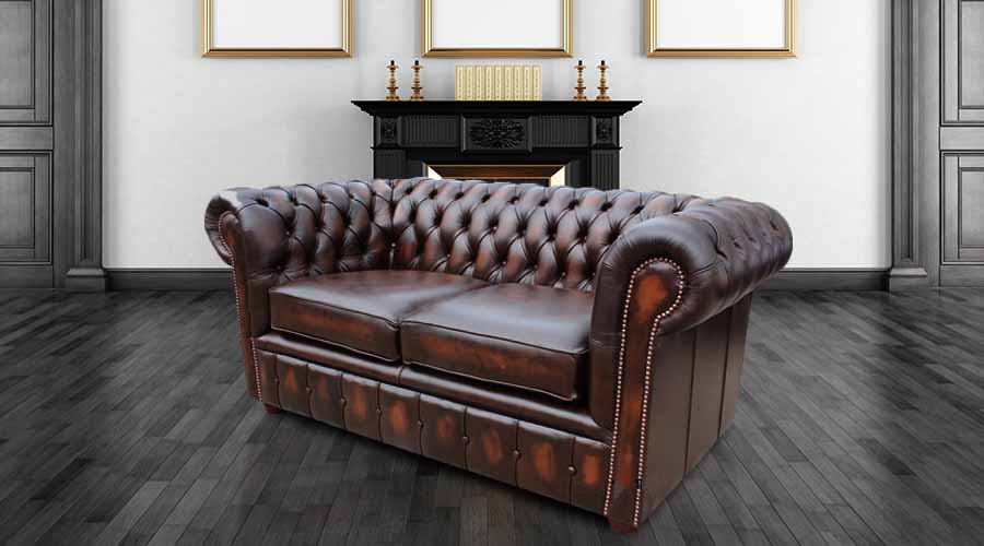 Enjoyable Chesterfield London 2 Seater Antique Brown Leather Sofa Settee Offer Download Free Architecture Designs Scobabritishbridgeorg