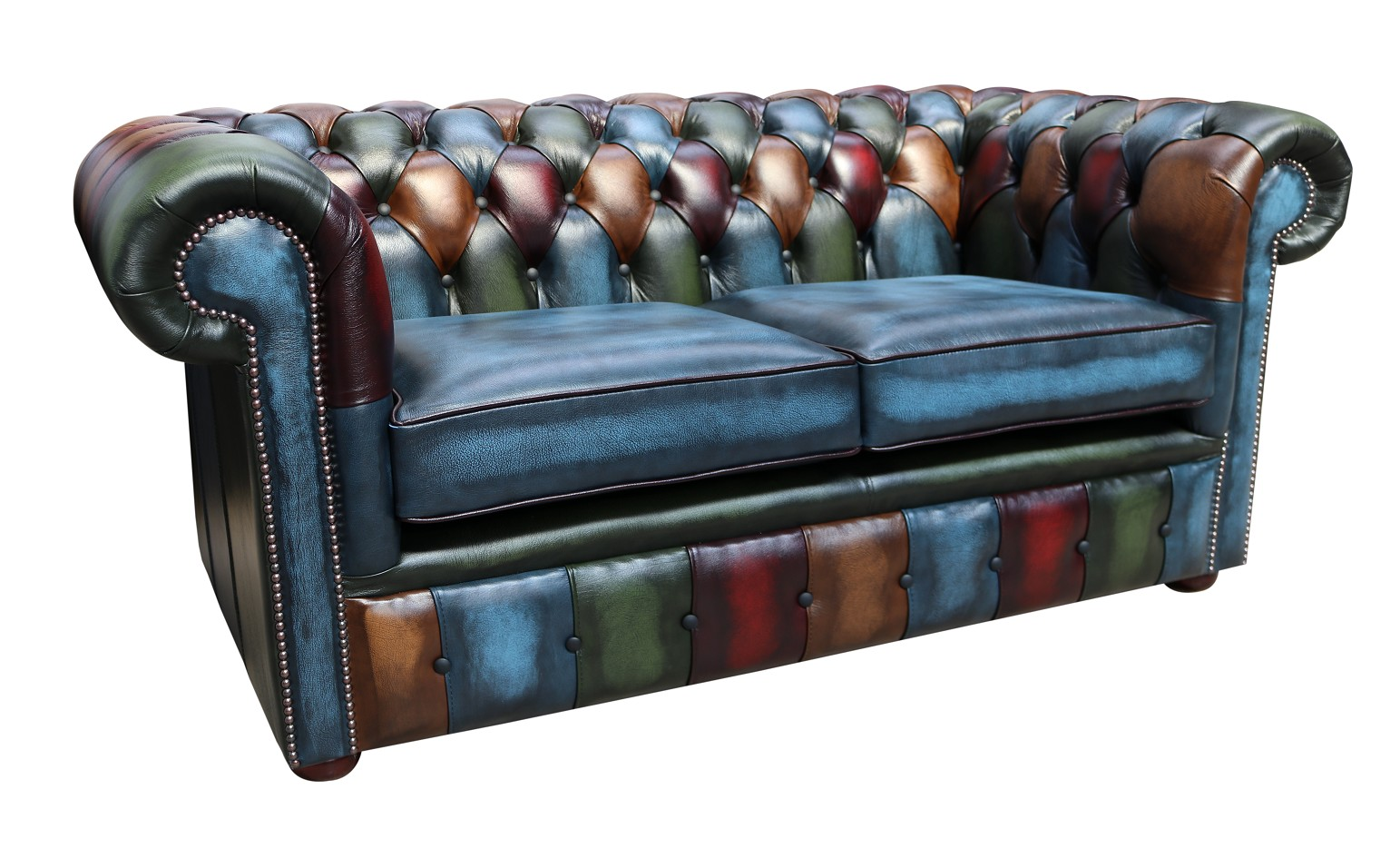 Amazing Patchwork Leather 2 Seater Chesterfield Sofa Shop Now Home Interior And Landscaping Sapresignezvosmurscom