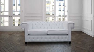 Stanley Chesterfield 2 Seater CRYSTALLIZED™ Diamond Leather Furniture