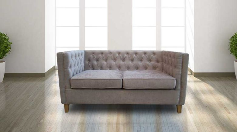 York Chesterfield Sofa Mink Fabric