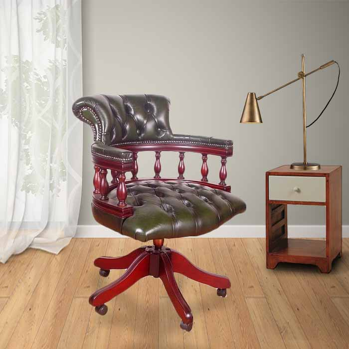 Excellent Chesterfield Captains Leather Office Chair Uwap Interior Chair Design Uwaporg