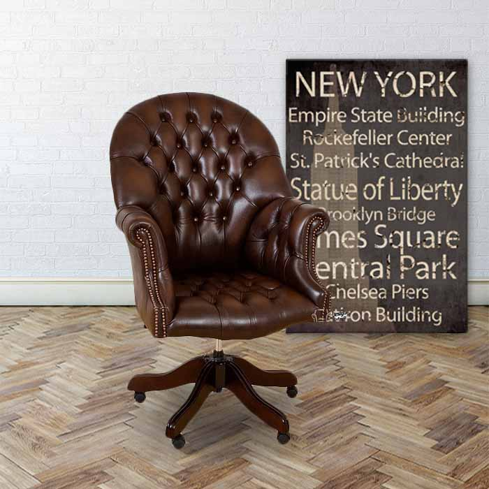Wondrous Chesterfield Directors Leather Office Chair Download Free Architecture Designs Sospemadebymaigaardcom