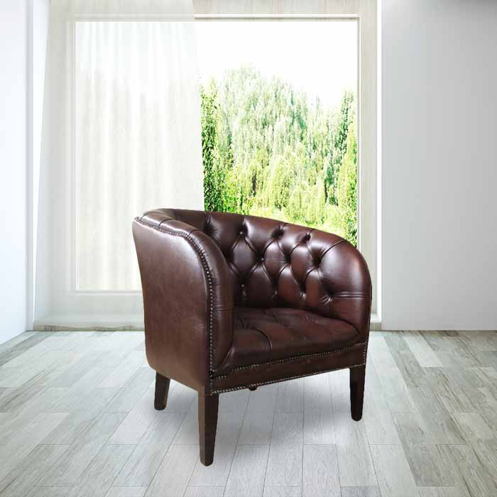 Superb Chesterfield Jasper Low Back Tub Chair Uk Manufactured Antique Brown Leather Dailytribune Chair Design For Home Dailytribuneorg