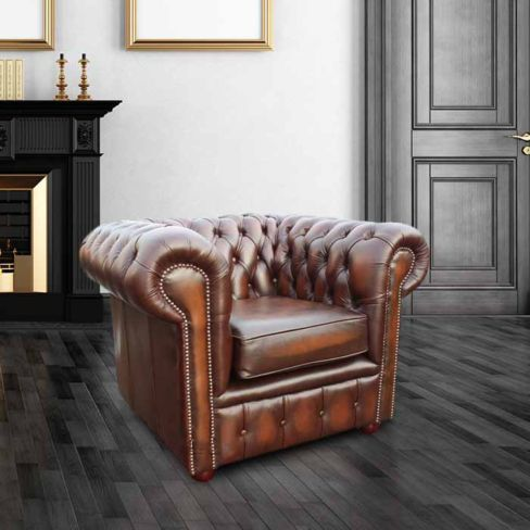 DesignerSofas4U | Buy leather antique green chesterfield club armchair