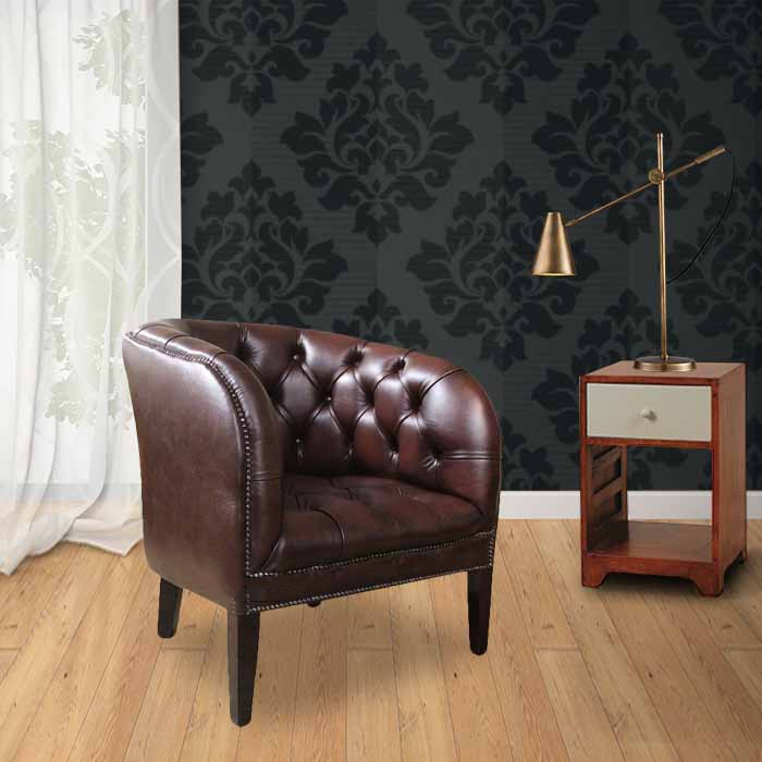 cc1cf9f5721 Buy leather Chesterfield tub chair at DesignerSofas4U