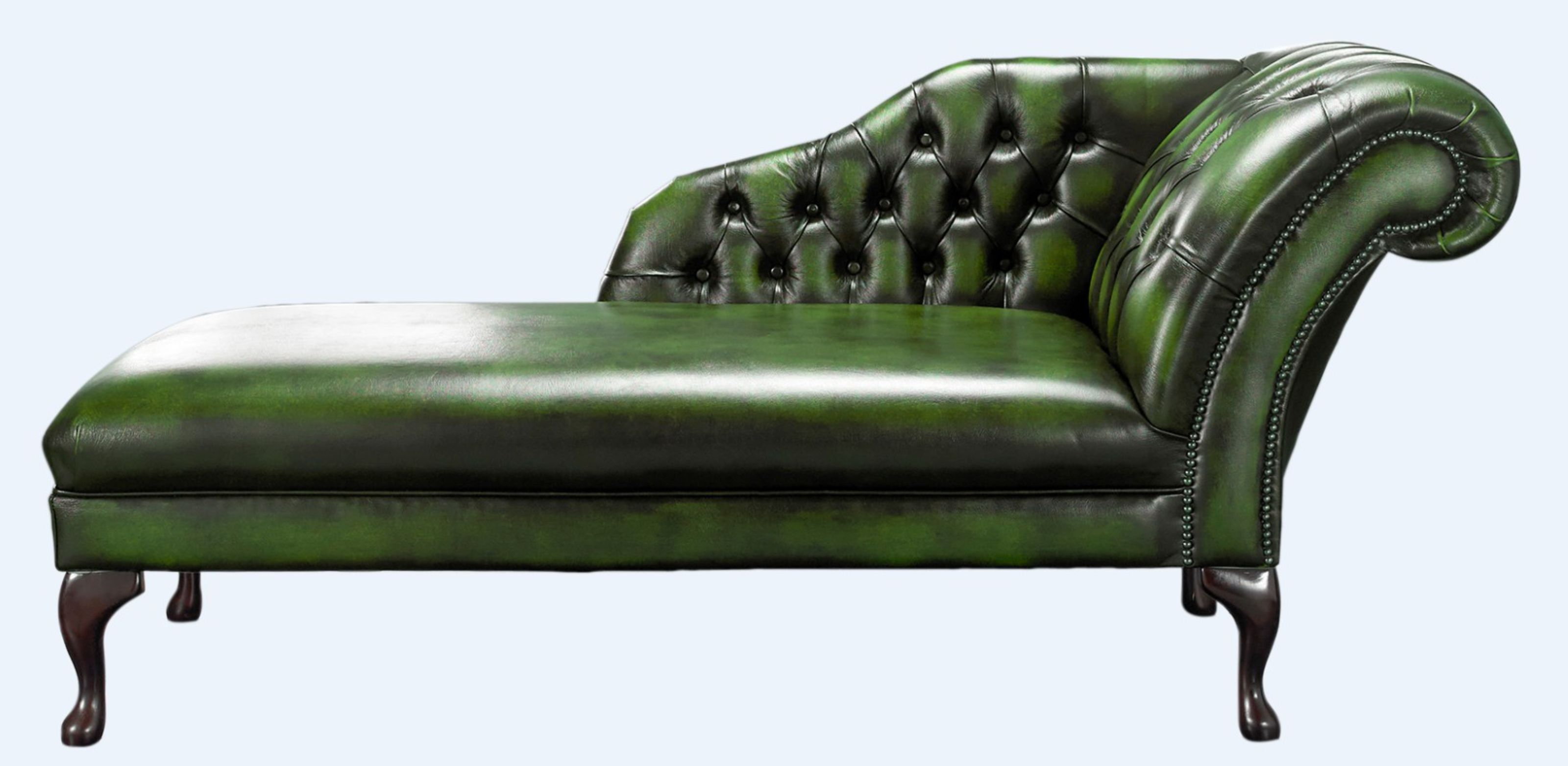 Green Chesterfield Chaise Lounge day Bed | DesignerSofas4U on chaise sofa sleeper, chaise furniture, chaise recliner chair,
