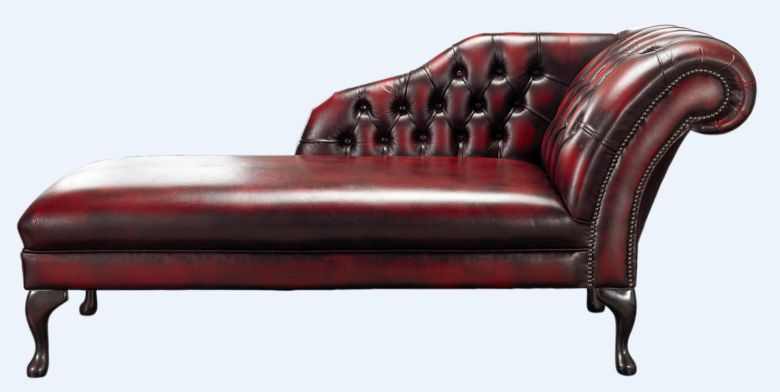 Oxblood Chesterfield Chaise Lounge day Bed | Accent Furniture | DesignerSofas4U
