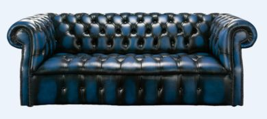 Chesterfield Darcy 3 Seater Antique Blue Leather Sofa Offer